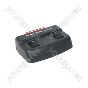 2 Way Loudspeaker Selector - selector, 2-way - Black - AD-SPK21