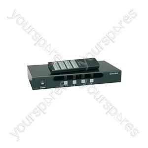 4:4 A/V Matrix Switcher with IR Remote Control - (UK version) 4x4 AV - AD-AV44
