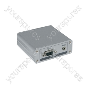 CAT 5 Repeater/Receiver with Single VGA Output