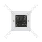 Brush Wallplates Single - single- white steel - BRUSH1W