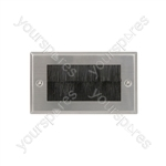 Brush Wallplates Double - - steel - BRUSH2S