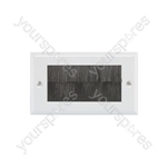 Brush Wallplates Double - - white steel - BRUSH2W