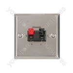Steel Speaker Wallplate - for single