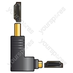 Adaptor HDMI Right Angle Plug - HDMI Socket - RA