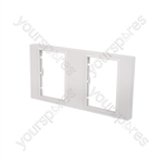 Wallplate Frame 2 Gang for 6 Modules - 2Gang