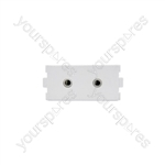 Wallplate Module - 2 x 3.5mm Stereo Sockets - Modules modules
