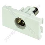Wall Plate Module - Coaxial Keystone Socket
