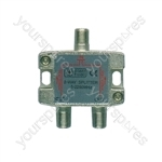 Satellite Metal F Splitters 5-2250MHz - 2-way