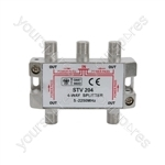 Satellite Metal F Splitters 5-2250MHz - 4-way
