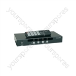 4:4 A/V Matrix Switcher with IR Remote Control - (UK version) 4x4 AV - AD-AV44