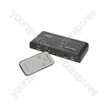 HDMI Switches with IR Remote Control - Switcher 3x1 - HDM31