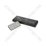 HDMI Switches with IR Remote Control - Switcher 5x1 - HDM51