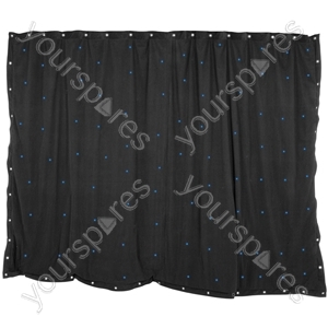 LED Starcloths - 1 x 2m Black with 36 Blue LEDs - SCB2