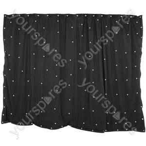 LED Starcloths - 3 x 2m Black with 96 White LEDs - SCW6