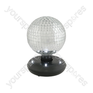 15cm Rotating Mirror Ball with LED Base - RMB-150