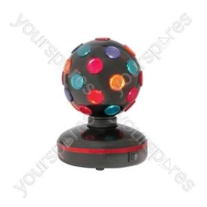 Rotating Disco Ball - (UK version) Ball, 5 Colours, Free Standing - DB-130