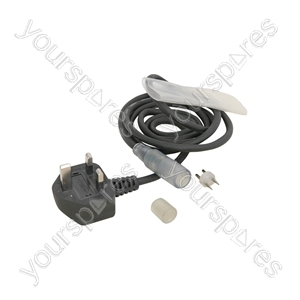 Rope Light Power Cable - with plastic sleeve and end cap (UK version)