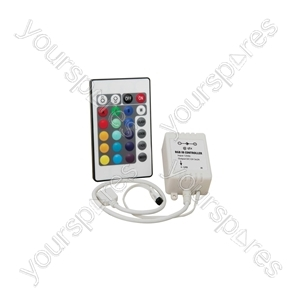 RGB LED Tape Controller with 24 Key IR Remote - for - LTC22IR