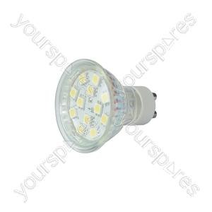 GU10 LED Lamps - 12 x LEDs - cool white (6000K) - GU10-12CW