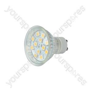 GU10 LED Lamps - 12 x LEDs - warm white (3000K) - GU10-12WW