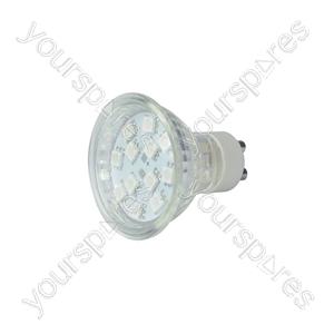 GU10 LED Lamps - 12 x LEDs - blue - GU10-12BL