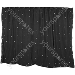 LED Starcloths - 3 x 2m Black with 96 White LEDs - SCW6