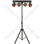 LED Effects Lighting Bar & Stand with Bags - - 2 Fireball-Par + 2 Crystal Ball - FXB-1