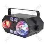 Tetra LED Moonflower + Ripple + Strobe/UV + Laser Effect - Wave