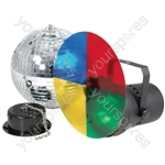 Disco Light Set - (UK version) 3 with 20cm mirrorball - DS-20CW