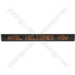 LED Moving Message Displays - 7 x 120 Multi colour MKII - MM7120T-UK