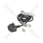 230V Rope Light Power Cable - with plastic sleeve and end cap (UK version)