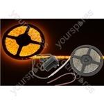 5m DIY LED tape kit - single colour IP65 - Amber - DIY-A60