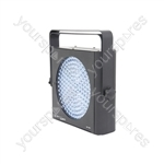 SP-W1 Slimline white spot/strobe LED PAR64 can