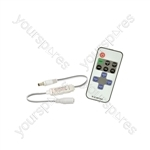In-line RF Single Colour LED Tape Controller - 1-Color with DC jacks - ISRF1