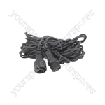 Outdoor Static String Light Rubber Extension Cable - 2 Wire 5.0m - ST-5M