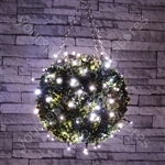 Outdoor LED battery operated String Lights with Timer - 120 Cool White - BLS120CW