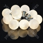 Indoor Battery LED Festoon Lights - 10 Bauble Warm White - BIF10WW