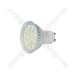GU10 LED Lamps - 18 x LEDs - cool white 6000K) - GU10-18CW