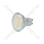 GU10 LED Lamps - 18 x LEDs - warm white (3000K) - GU10-18WW