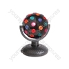 Rotating Disco Ball - (UK version) Ball, Bi-directional, 5-Colours, Free Standing - DB-160