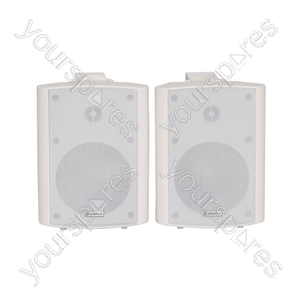 """5.25"""" Active Stereo Speaker Set 2x30W RMS - 5.25inch White - BC5A-W"""