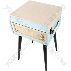 Bermuda - Retro Style Turntable with Removable Legs - Blue/Cream