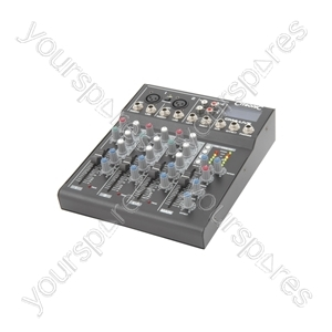 CM-live Compact Mixers with Delay + USB/SD Player - CM4-LIVE
