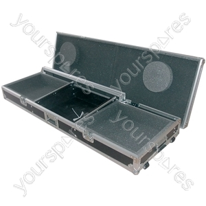 "Flightcase for A Mixer and 2 x Turntables - 8U 19"" CD players/turntable - CASE:TT19"