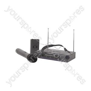Handheld & Neckband VHF Wireless System - + 174.1 + 175.0MHz - VHN2
