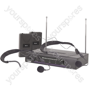 Dual Neckband Microphone VHF Wireless System - - 173.8 + 174.8MHz - VN2