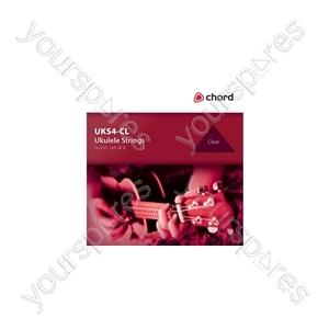 Ukulele Strings - set - clear - UKS4-CL