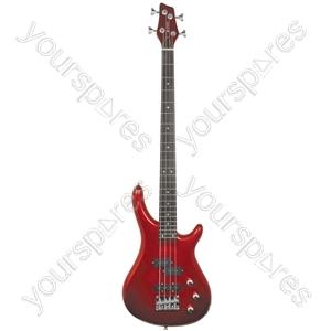 Electric Bass Guitars - CCB90 Metallic Red - CCB90-MRD