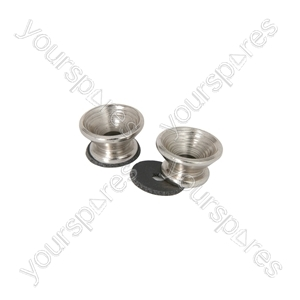 Metal Strap Buttons - Pair - Chrome - S-BUTTONS-CR