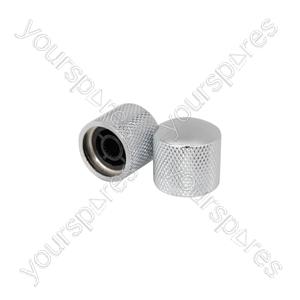 Knurled Control Knobs - Pair - Ctrl Chrome - CTE-CTRLKNBS-CR